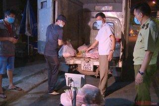 Phát hiện hơn 650 kg thịt lợn không rõ nguồn gốc tại Bình Phước
