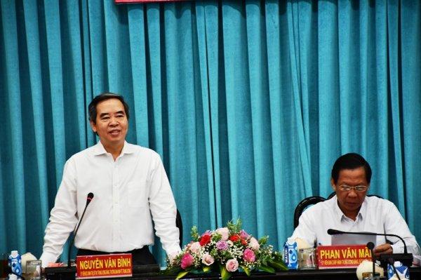 đồng Chi Nguyễn Văn Binh Lam Việc Tại Tỉnh Bến Tre Bao Nhan Dan