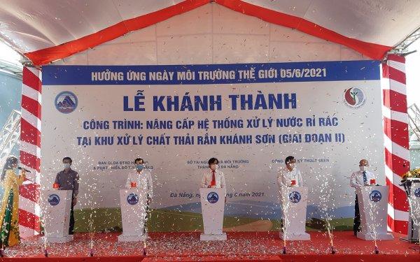 Khánh thành Hệ thống xử lý nước rỉ rác giai đoạn 2 tại bãi rác Khánh Sơn- Đà Nẵng